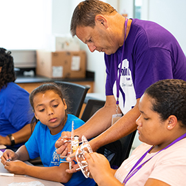 East Carolina University's College of Business and College of Engineering and Technology collaborated for the first time on a technology-focused STEM (science, technology, engineering and mathematics) camp for girls from regional middle schools.