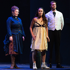 "Performers in ""Peter and the Starcatcher"" participate in dress rehearsal."