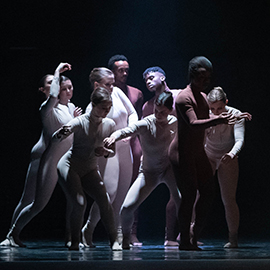 Dancers perform during a dress rehearsal for Fall Dance 2018.