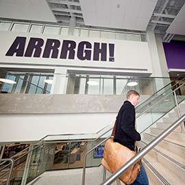 "ECU traditions, like the phrase ""Arrrgh,"" received nods in the design of the new Main Campus Student Center."