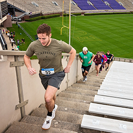 Participants walked or ran 3,200 steps at Dowdy-Ficklen Stadium during the fourth annual Storm the Stadium, in support of ECU Student Veteran Services.