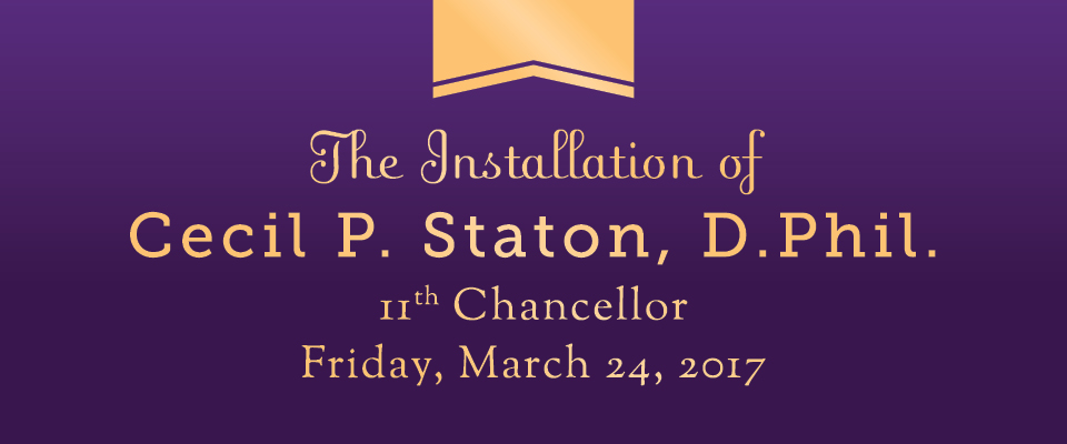 Chancellor's Installation week