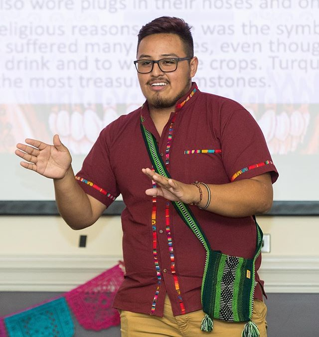 Cruz Alarcon lectures on Latino culture in the Ledonia Wright Cultural Center Get CulturED: Latino educational event in Mendenhall Student Center. (ECU Photo by Cliff Hollis)