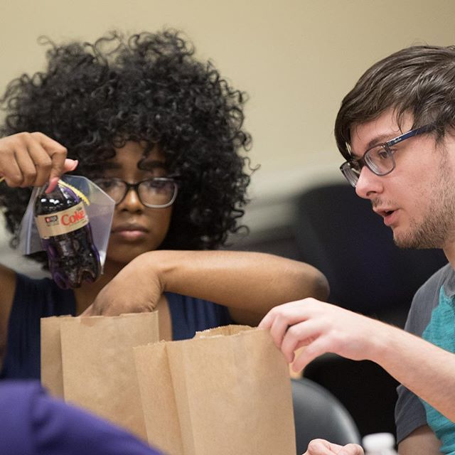 ECU students and parents helped pack backpacks with supplies, STEM kits, and welcome back for the Boys & Girls Clubs of the Coastal Plain during the Family Day of Service in Mendenhall Student Center. (ECU photo by Cliff Hollis)